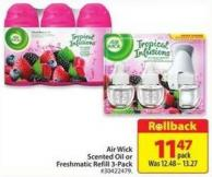 Air Wick Scented Oil or Freshmatic Refill 3 Pack