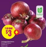 Bagged Red Onions 7 Lb