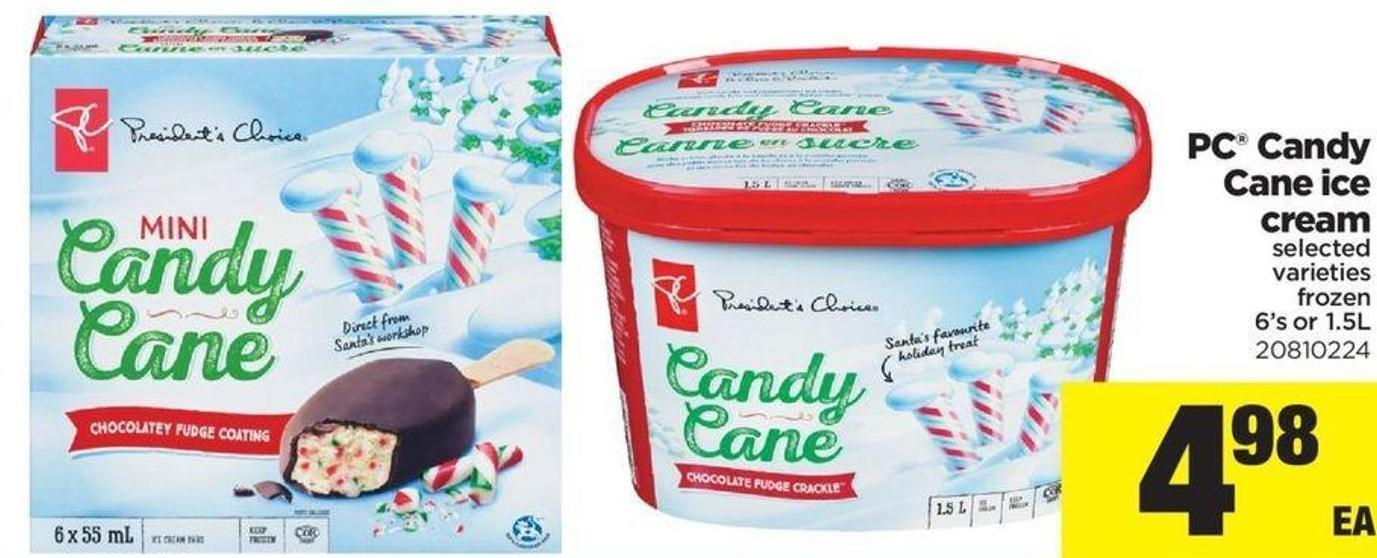 PC Candy Cane Ice Cream - 6's or 1.5l