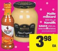 Maille Mustard - 500 Ml Or Nandos Sauce - 250 Ml