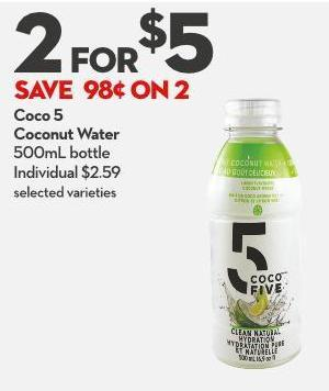 Coco 5  Coconut Water 500ml Bottle