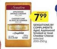 Sensations By Compliments Aged - Applewood Smoked or Goat Cheddar Cheese
