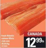 Fish Market Fresh Atlantic Salmon Fillets