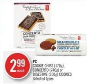 PC Cookie Chips (170g) - Concerto (240g) or Digestive (300g) Cookies