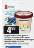 Häagen-dazs Ice Cream - Gelato Or Non-dairy Frozen Dessert - 475-500 Ml - Novelties - 3's - PC  Frozen Fruit - 400/600 G Or Mochi Frozen Dessert - 210 Ml