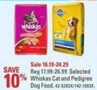 Selected Whiskas Cat and Pedigree Dog Food