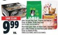 Iams Cat And Dog Food - Friskies Cat Food Or Cesar Or Kibble 'N Bits Dog Food
