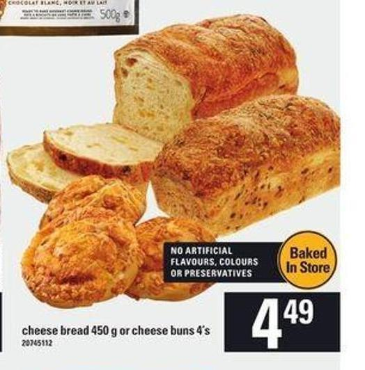 Cheese Bread - 450 G Or Cheese Buns - 4's