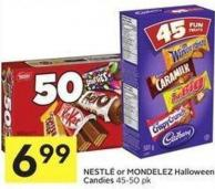Nestlé or Mondelez Halloween Candies 45-50 Pk
