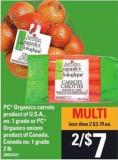 PC Organics Carrots Or PC Organics Onions - 2 Lb