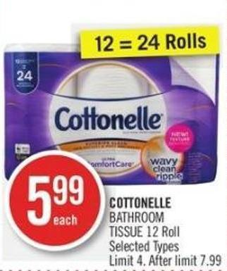 Cottonelle Bathroom Tissue 12 Roll