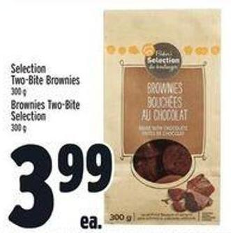 Selection Two-bite Brownies