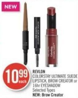 Revlon Colorstay Ultimate Suede Lipstick - Brow Creator or 16hr Eyeshadow