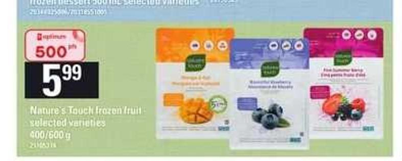 Nature's Touch Frozen Fruit - 400/600 g