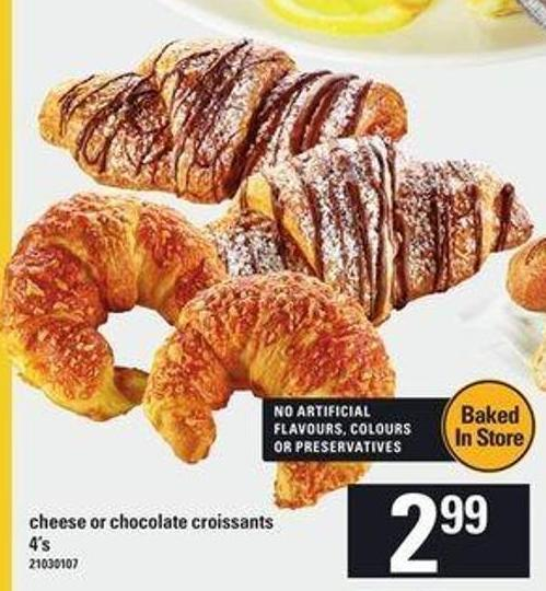 Cheese Or Chocolate Croissants - 4's