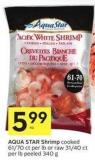 Aqua Star Shrimp Cooked 61/70 Ct Per Lb or Raw 31/40 Ct Per Lb Peeled 340 g