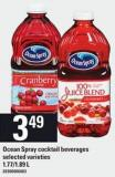 Ocean Spray Cocktail Beverages - 1.77/1.89 L