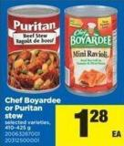 Chef Boyardee Or Puritan Stew - 410-425 g