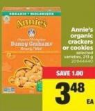 Annie's Organic Crackers Or Cookies - 213 g