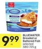 Bluewater Breaded or Battered Fish Selected 580-725 g