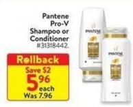 Pantene Pro-v Shampoo or Conditioner