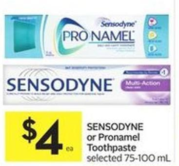 Sensodyne or Pronamel Toothpaste Selected 75-100 mL