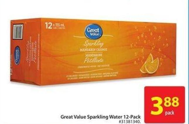 Great Value Sparkling Water 12-pack