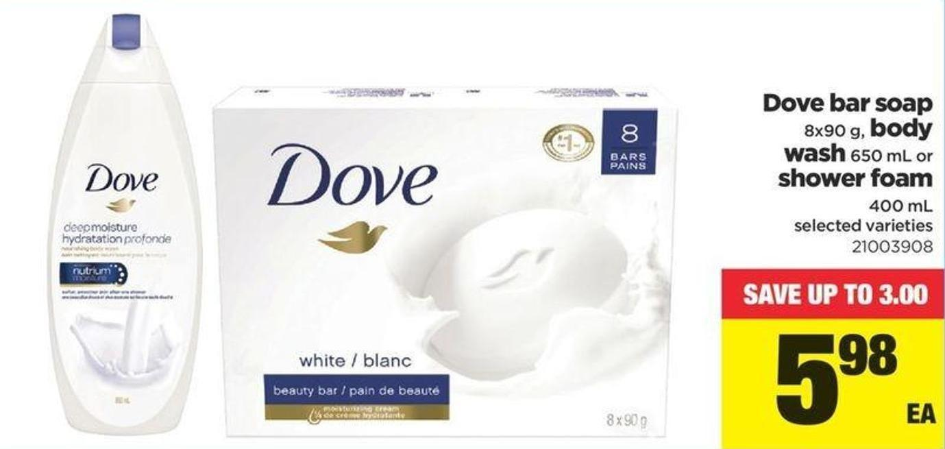 Dove Bar Soap 8x90 G - Body Wash 650 Ml Or Shower Foam 400 Ml