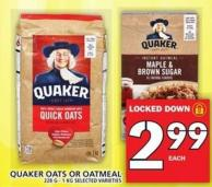 Quaker Oats Or Oatmeal