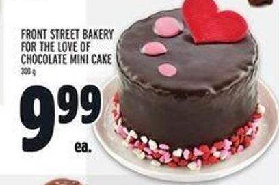 Front Street Bakery For The Love of Chocolate Mini Cake