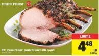 PC Free From Pork French Rib Roast