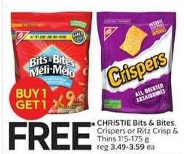 Christie Bits & Bites - Crispers or Ritz Crisp & Thins 115-175 g