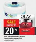 Olay Or Nivea Skin Care Products