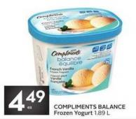 Compliments Balance Frozen Yogurt