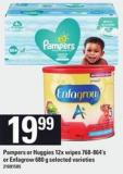 Pampers Or Huggies 12x Wipes 768-864's Or Enfagrow 680 G