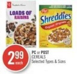 PC or Post Cereals