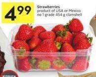 Strawberries Product of USA or Mexico No 1 Grade 454 g Clamshell