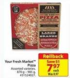 Your Fresh Market Pizza