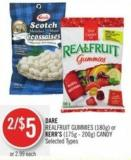 Dare  Realfruit Gummies (180g) or Kerr's (175g - 200g) Candy