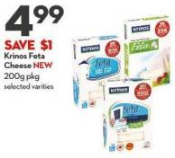 Krinos Feta Cheese New 200g Pkg