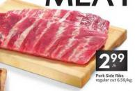 Pork Side Ribs Regular Cut 6.59/kg