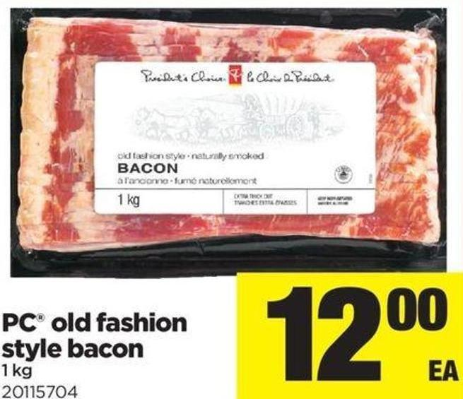 PC Old Fashion Style Bacon - 1 Kg