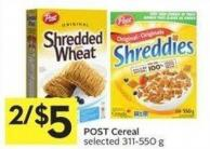 Post Cereal Selected 311-550 g