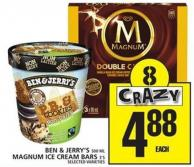 Ben & Jerry's Or Magnum Ice Cream Bars