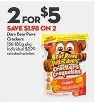 Dare Bear Paws Crackers