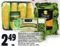Attitude Salads 128 - 142 G - Product Of Canada Sweet Corn 4 Pk - Product Of Ontario - Canada No. 1 Grade Fresh Peas 400 G - Goldenberries 200 G - Product Of Colombia
