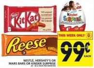 Nestlé - Hershey's Or Mars Bars Or Kinder Surprise