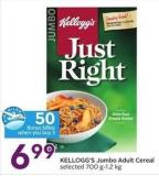 Kellogg's Jumbo Adult Cereal Selected 700 G-1.2 Kg - 50 Air Miles Bonus Miles