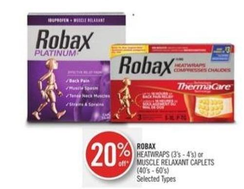 Robax Heatwraps (3's - 4's) or Muscle Relaxant Caplets (40's - 60's)