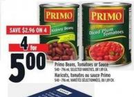 Primo Beans - Tomatoes Or Sauce | Haricots - Tomates Ou Sauce Primo